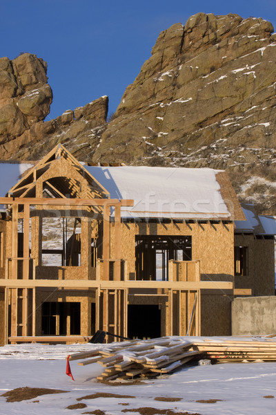 Home construction in Colorado Rocky Mountain Stock photo © PixelsAway