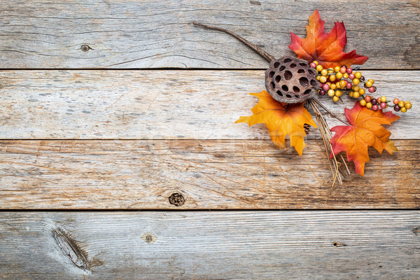 barn wood  background with fall decoration Stock photo © PixelsAway
