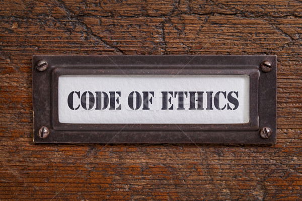 code of ethics -  file cabinet label Stock photo © PixelsAway