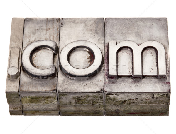 dot com - internet domain in letterpress type Stock photo © PixelsAway