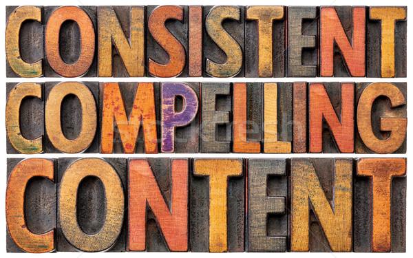 последовательный содержание рекомендация маркетинга слово Сток-фото © PixelsAway