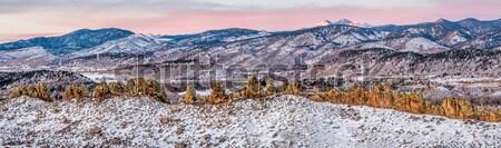 Devils Backbone and Longs Peak Stock photo © PixelsAway