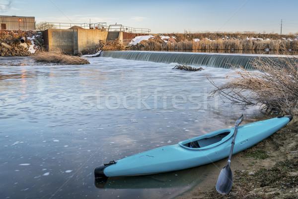 kayak and river diversion dam Stock photo © PixelsAway