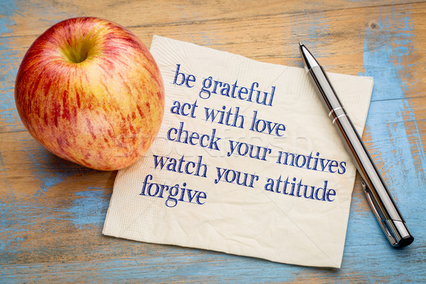 be grateful - inspirational phrases Stock photo © PixelsAway