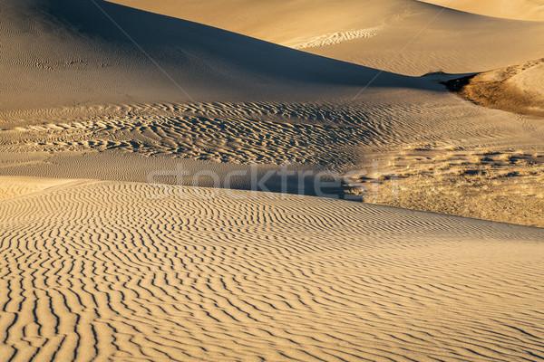 Muhteşem kum park desen doku gün batımı Stok fotoğraf © PixelsAway
