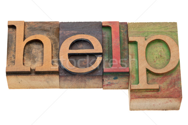 help word in letterpress type Stock photo © PixelsAway