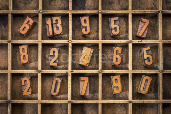 random number in typesetter box Stock photo © PixelsAway