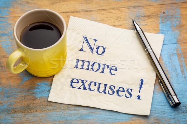 Nem több motivációs kézírás szalvéta csésze Stock fotó © PixelsAway