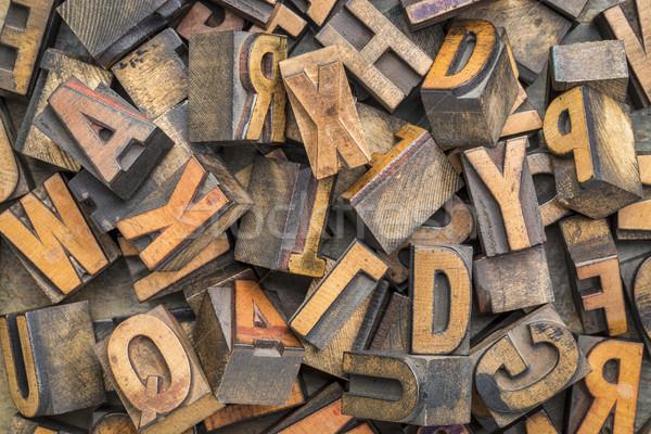 letterpress wood type blocks background Stock photo © PixelsAway