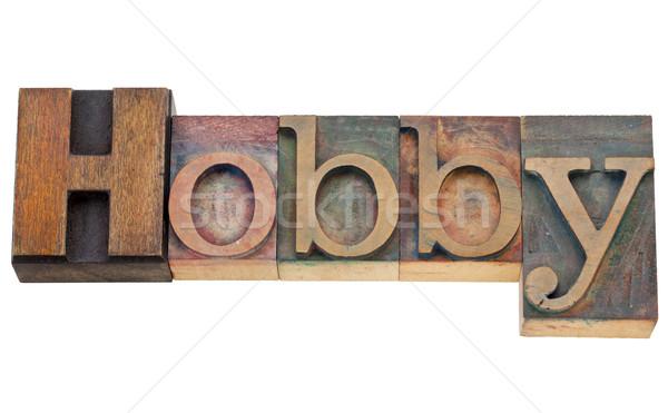 слово изолированный текста Vintage Сток-фото © PixelsAway