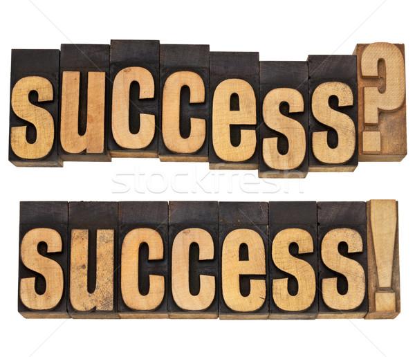 Succes vraag bevestiging geïsoleerd woord vintage Stockfoto © PixelsAway