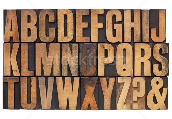 alphabet in letterpress wood type Stock photo © PixelsAway
