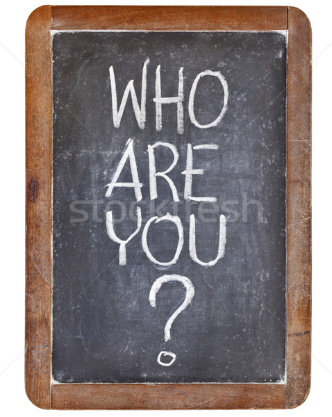 who are you question Stock photo © PixelsAway