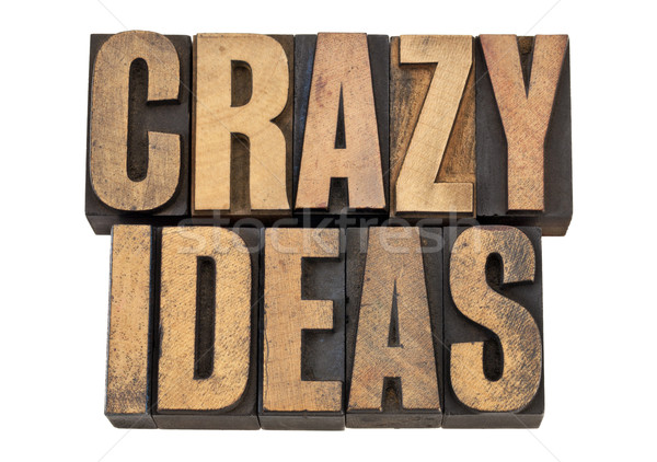 crazy ideas in letterpress type Stock photo © PixelsAway