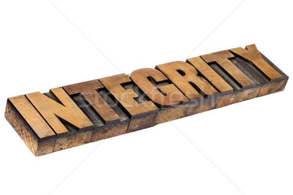 integrity word in wood type Stock photo © PixelsAway