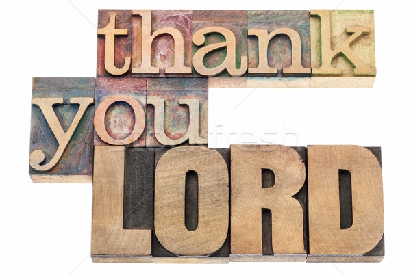thank you Lord in wood type Stock photo © PixelsAway