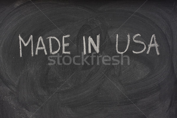 made in USA on a blackboard  Stock photo © PixelsAway