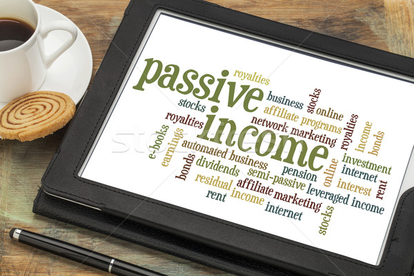passive income word cloud   Stock photo © PixelsAway