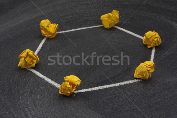network topology 3 - ring model Stock photo © PixelsAway