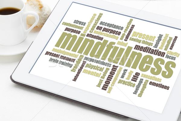mindfulness word cloud Stock photo © PixelsAway