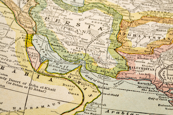 Persian Gulf on vintage map Stock photo © PixelsAway