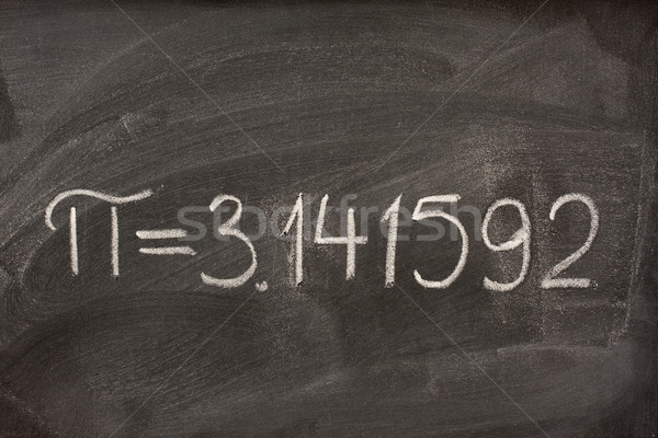 Сток-фото: числа · pi · доске · первый · семь