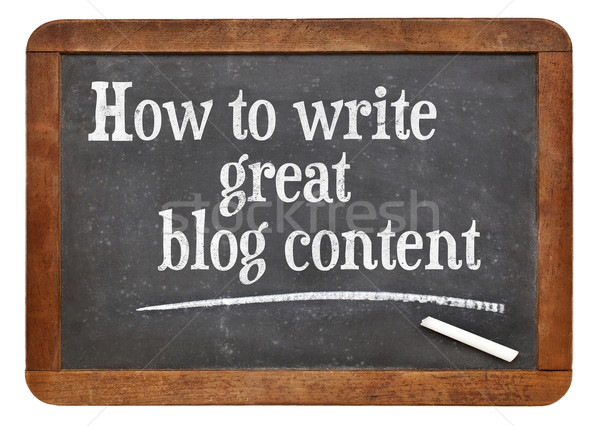 How to write great blog content Stock photo © PixelsAway