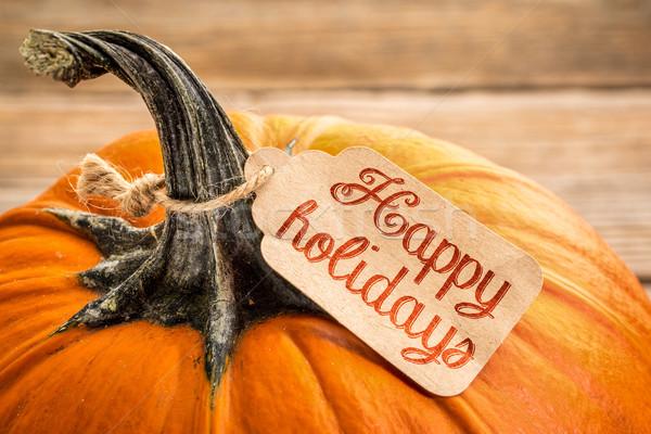 Stok fotoğraf: Mutlu · tatil · fiyat · etiket · kabak · halloween