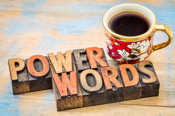 power words in vintage wood type Stock photo © PixelsAway