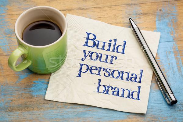 построить личные марка совет почерк салфетку Сток-фото © PixelsAway