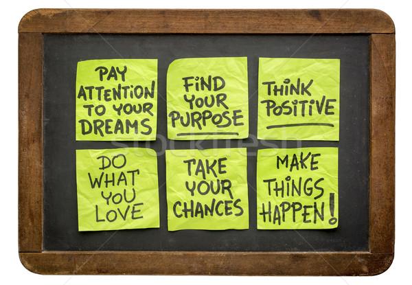 Motivációs cetlik szett inspiráló kézírás klasszikus Stock fotó © PixelsAway