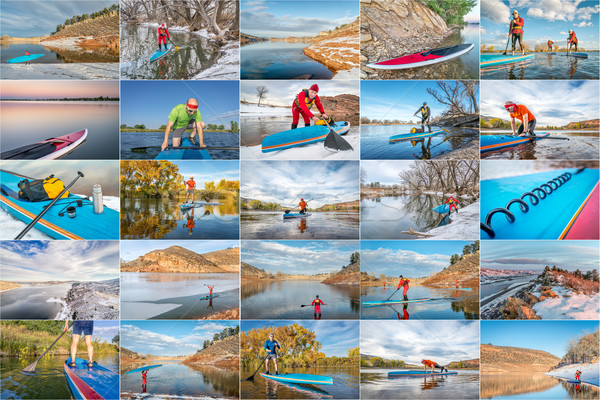 stand up paddling picture collection Stock photo © PixelsAway
