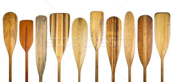 wooden canoe paddle abstract Stock photo © PixelsAway
