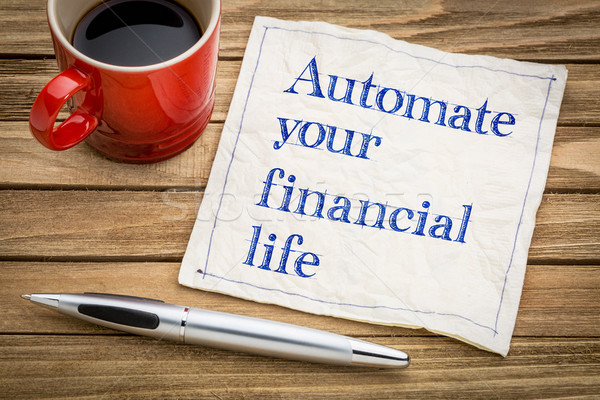 Automate your financial life Stock photo © PixelsAway