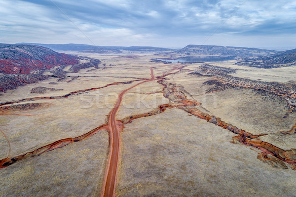 northern Colorado foothills aerial view Stock photo © PixelsAway