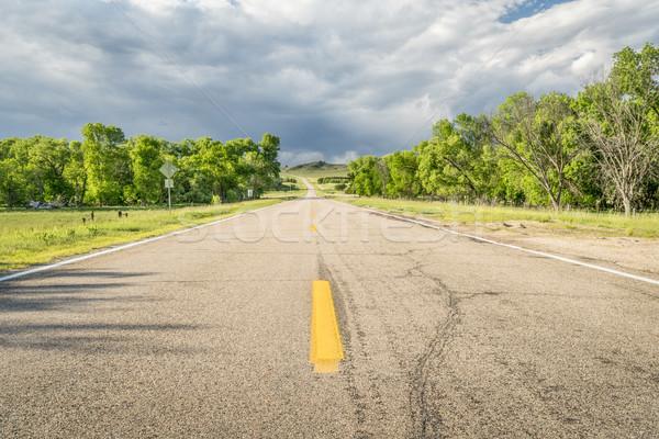 Autópálya folyó völgy út utazás Stock fotó © PixelsAway
