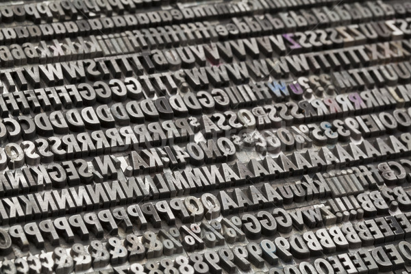 vintage metal letters and numbers Stock photo © PixelsAway