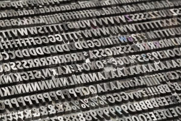Vintage metal litery numery interpunkcja symbolika Zdjęcia stock © PixelsAway