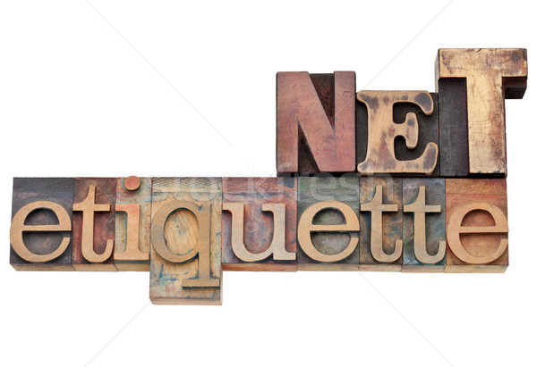 net etiquette - internet concept Stock photo © PixelsAway