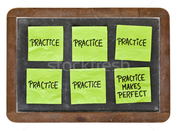 practice makes perfect concept Stock photo © PixelsAway