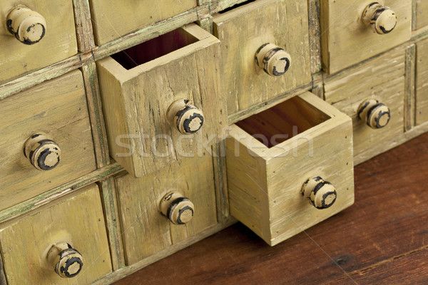 vintage apothecary drawer cabintet Stock photo © PixelsAway