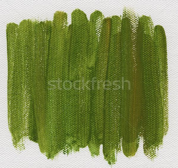 Zielone streszczenie malowany płótnie akwarela biały Zdjęcia stock © PixelsAway