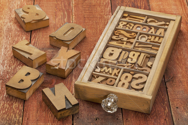 letterpress wood type Stock photo © PixelsAway