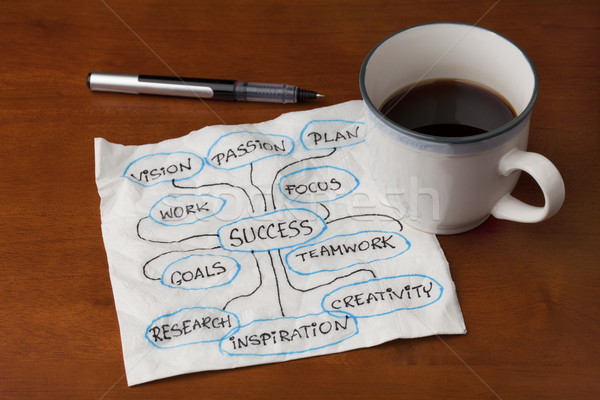 success brainstorming or mind map Stock photo © PixelsAway