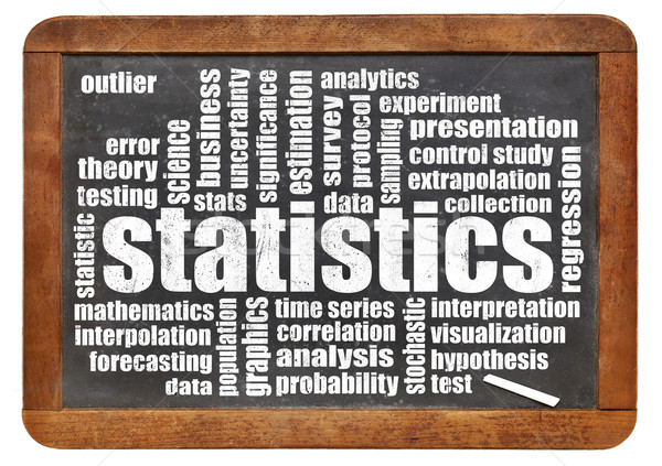 statistics and data word cloud Stock photo © PixelsAway