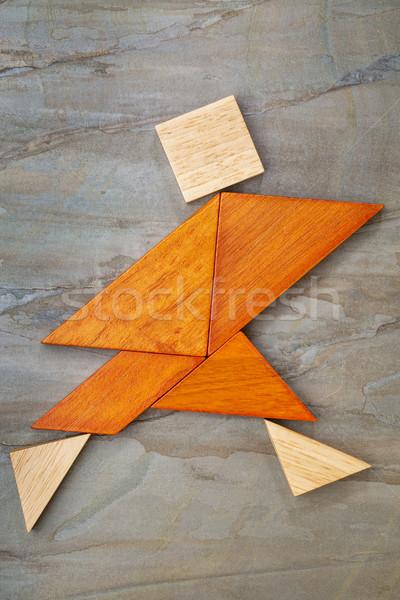 tangram running figure Stock photo © PixelsAway