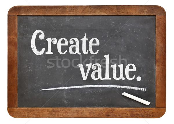 create value on blackboard Stock photo © PixelsAway