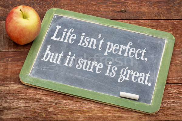 Life is not perfect, but it sure is great Stock photo © PixelsAway