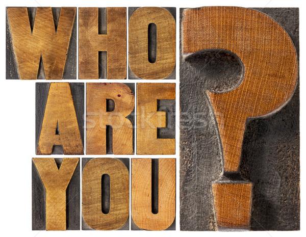Question bois type isolé mot résumé Photo stock © PixelsAway