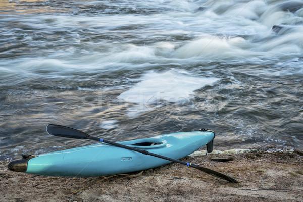 kayak on river shore Stock photo © PixelsAway